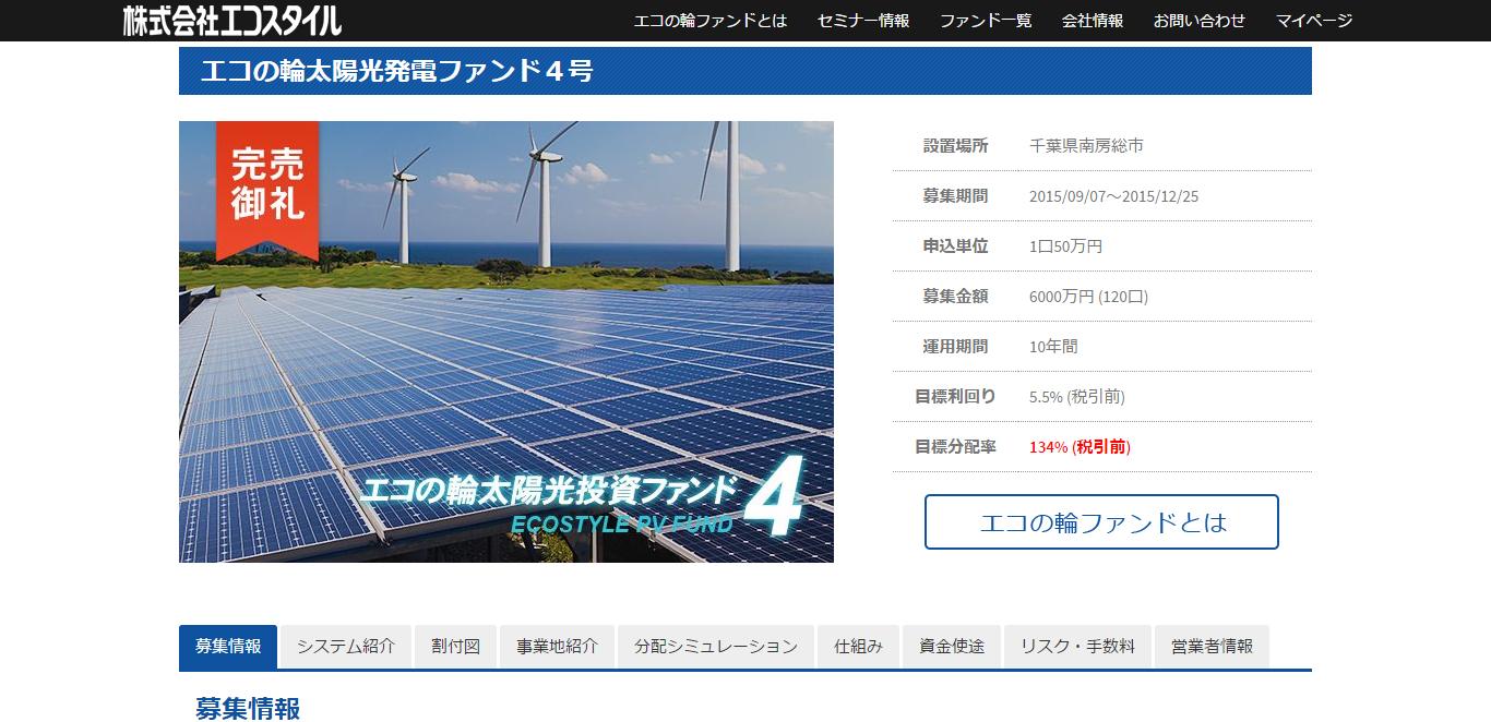 エコの輪太陽光発電ファンド4号