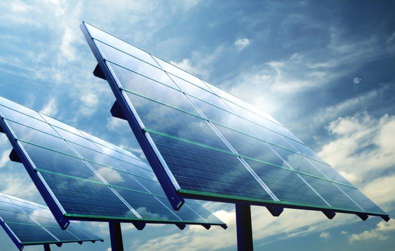 地面設置された太陽光発電システム