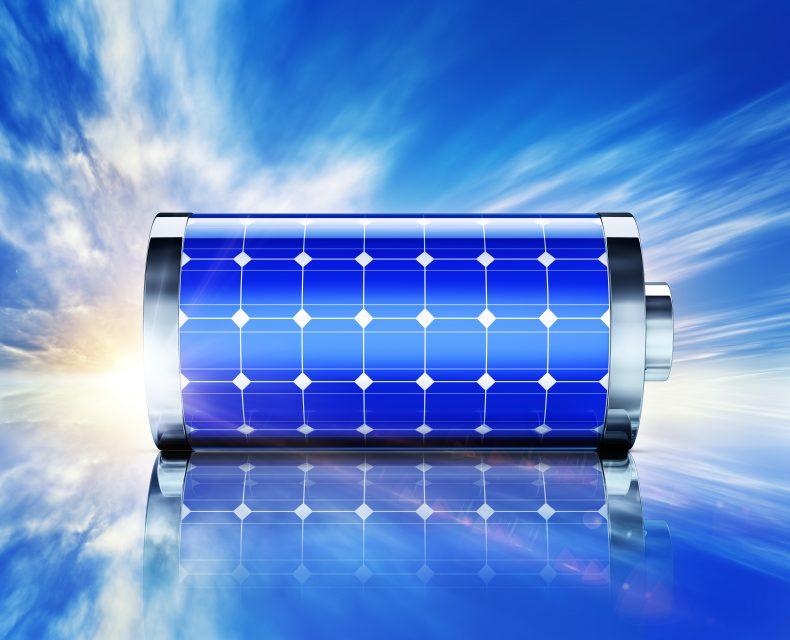 太陽光発電パネルと蓄電池のイメージ