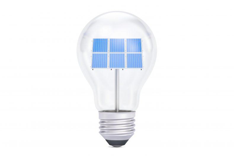 太陽光発電の発電量イメージ