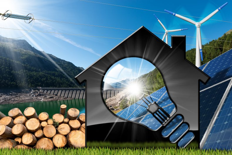 発電する太陽光発電システムのイメージ