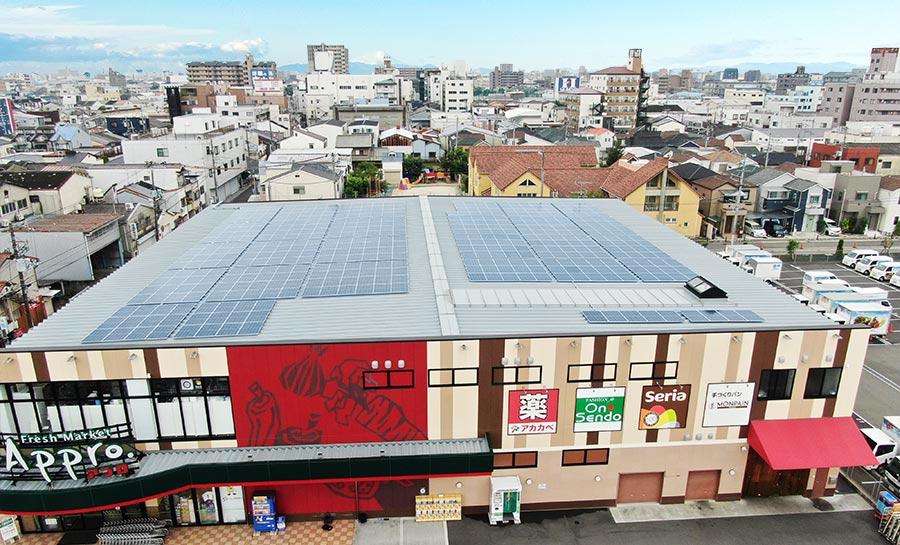 株式会社カノーに設置した太陽光発電の事例
